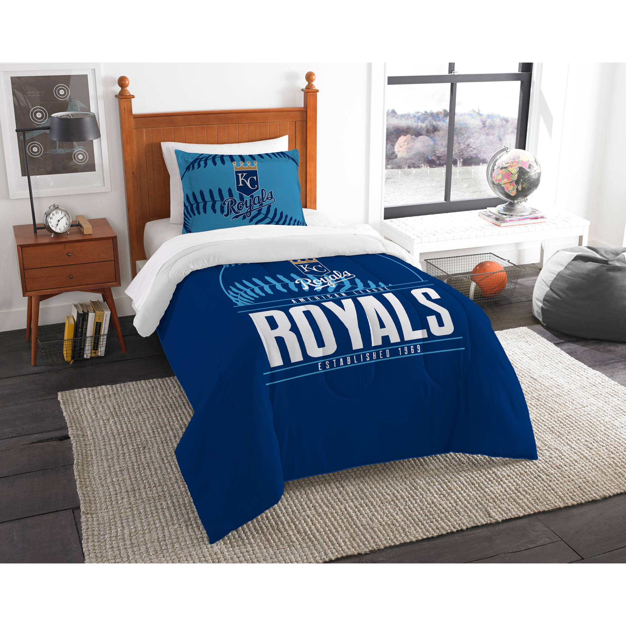 "MLB Kansas City Royals ""Grand Slam"" Bedding Comforter Set"