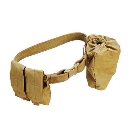 TAN-Molle Tactical Dragonspine Utility Belt System Dump Pouch Mag Holder Pouches - Molle System Utility Pouch