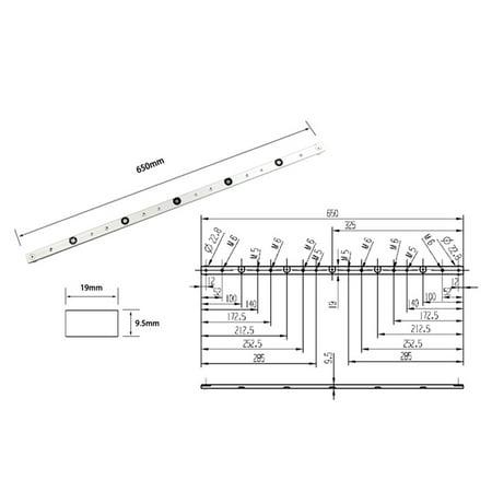 Aluminium Alloy Rail Miter Bar Slider Table Saw Gauge Rod Woodworking Tool ()