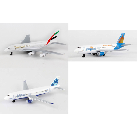 Emirates  Allegiant  Jetblue Airlines Diecast Airplane Package   Three 5 5  Diecast Model Planes