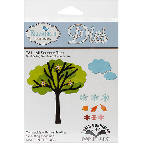 Elizabeth Craft Pop It Up Metal Dies By Karen Burniston, All Season Tree