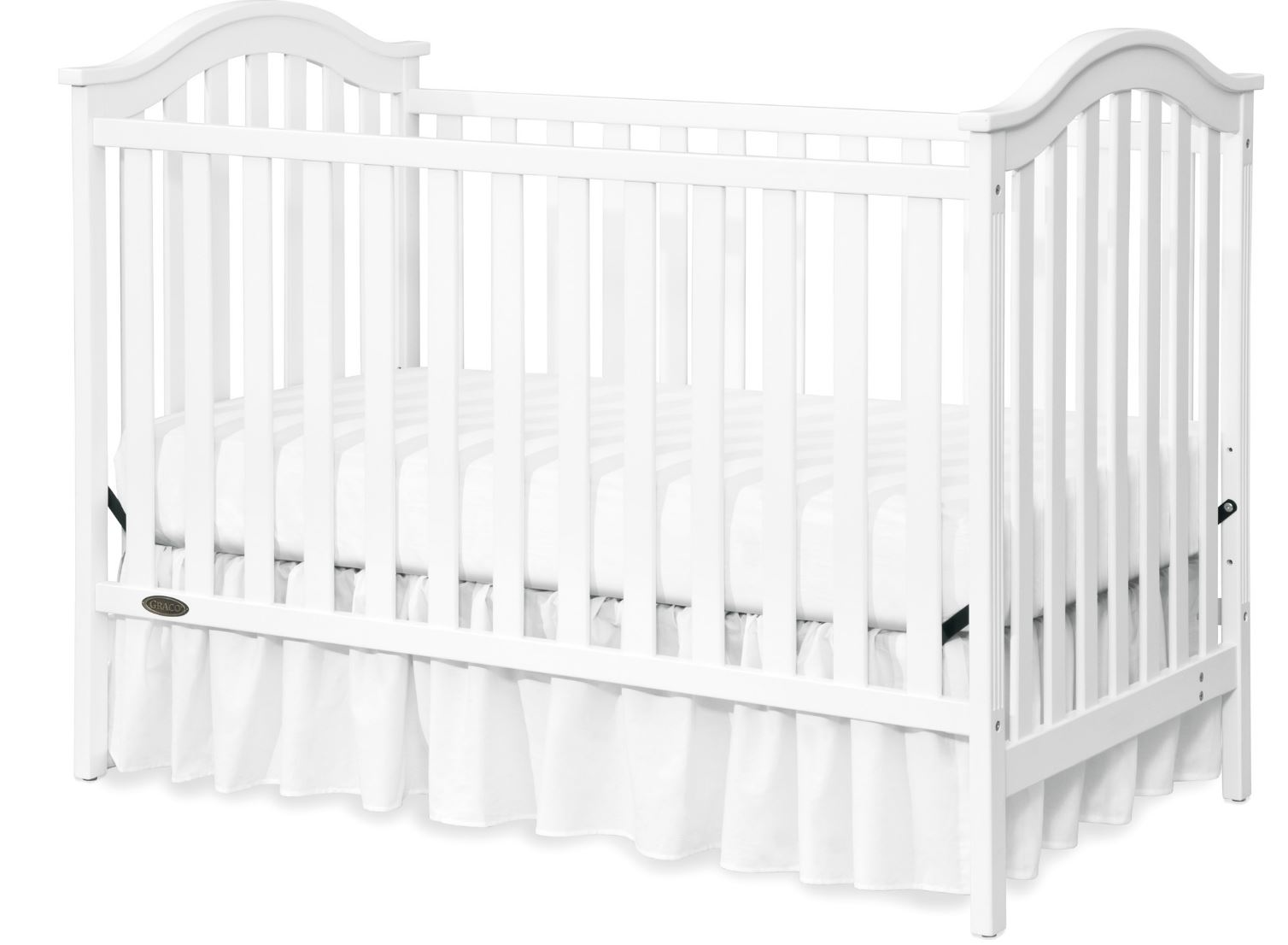 Graco Classic 3 In 1 Convertible Baby Crib White Timeless