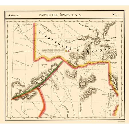 Old State Map - Texas, Arkansas Territory - Vandermaelen 1827 - 23 on