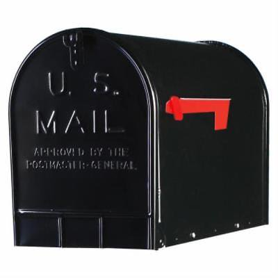 Black Jumbo T3 Ribbed Galvanized Steel Rural Mailbox