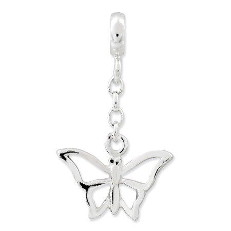 Sterling Silver Butterfly 1/2in Dangle Enhancer