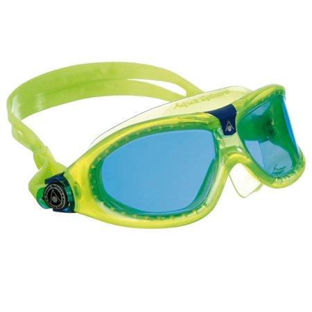 7219bbc3648 Aqua Sphere Seal Kid 2 Blue Lens Swim Goggles - Lime Blue - Walmart.com