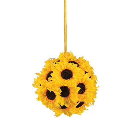 - Fun Express - Sunflower Kissing Ball for Wedding - Home Decor - Floral - Arrangements & Boxed Sets - Wedding - 1 Piece