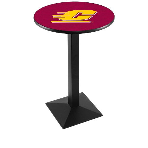 NCAA Pub Table by Holland Bar Stool, Black - CMU Chippewas, 42'' - L217