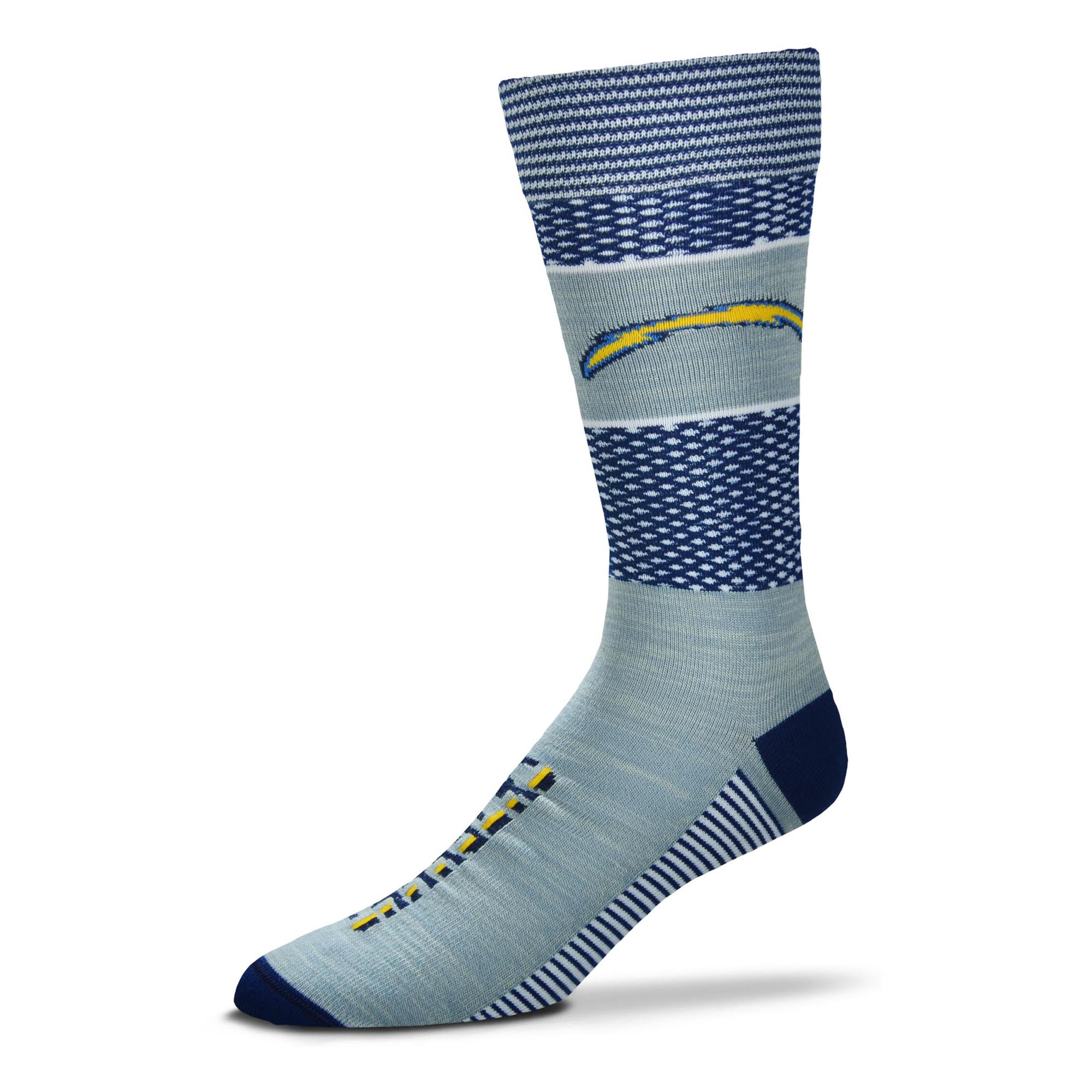 Los Angeles Chargers For Bare Feet Women's Mojo Crew Socks - M