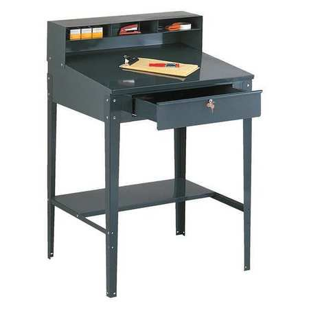 EDSAL 620 Open Shop Desk,Gray,Steel (Open Steel Shop Desk)