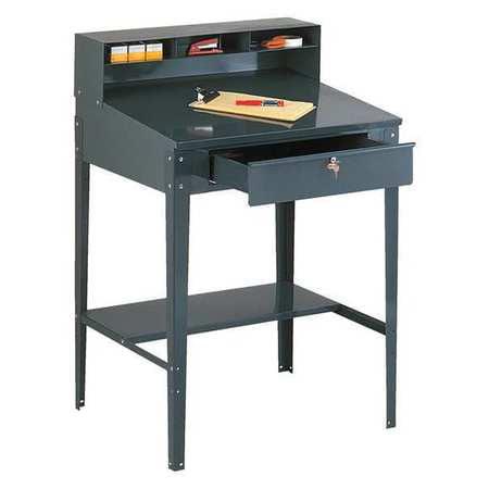 EDSAL 620 Open Shop Desk,Gray,Steel G2033468