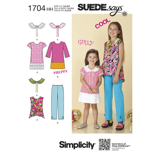 Simplicity Children's and Girls' Separates SUEDEsays Collection (3-6)