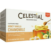 Celestial Seasonings Herbal Tea, Honey Vanilla Chamomile, 20 ea (Pack of 6)