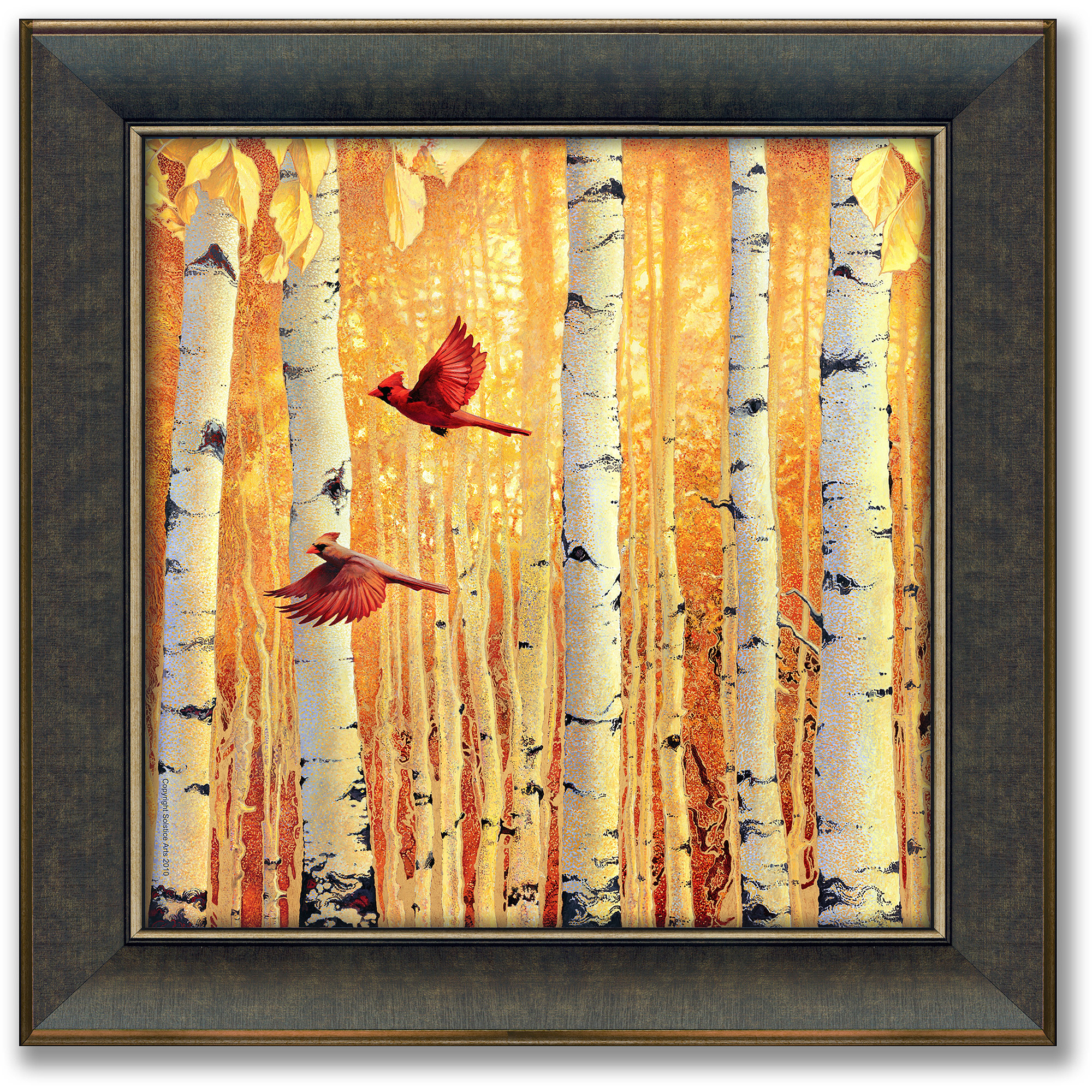 Personal-Prints Fall in Love Framed Canvas Art by