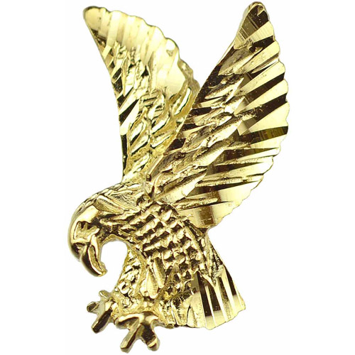 Handcrafted 10kt Yellow Gold American Eagle Charm Pendant