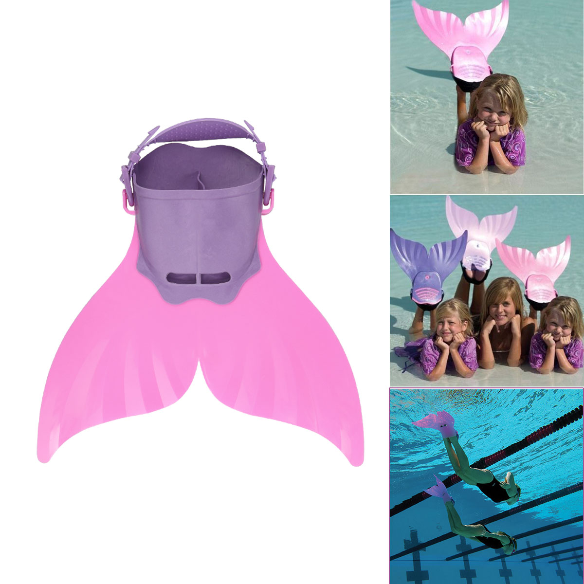 Monofin Adjustable Mermaid tails Swim Fins for Swimming with Flipper Diving Fins-Girls,Boys Teens CoastaCloud