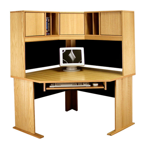 Rush Furniture Office Modulars Computer Desk with Hutch