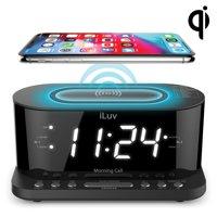 iLuv MORCAL5QULBK Morning Call 5 Clock Radio with Qi Charging