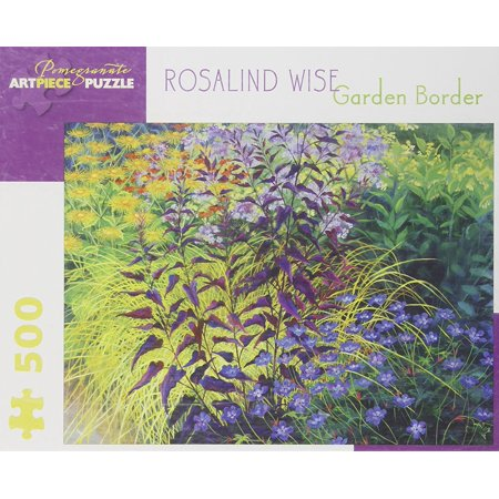 Rosalind Wise - Garden Border: 500 Piece Puzzle, Age: Adult By Pomegranate Ship from - Borders Puzzle