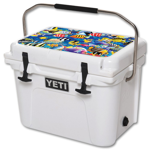 Skin For YETI Roadie 20 qt Cooler Lid – Tropical Fish | MightySkins Protective, Durable, and Unique Vinyl Decal wrap cover | Easy To Apply, Remove, and Change Styles | Made in the USA