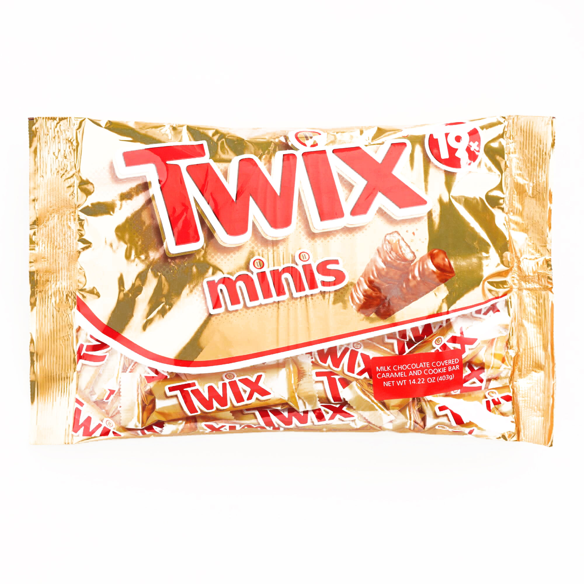 TWIX Caramel Chocolate Candy Bar Mini in a Plastic Jars with Lid 2-3 Pouds