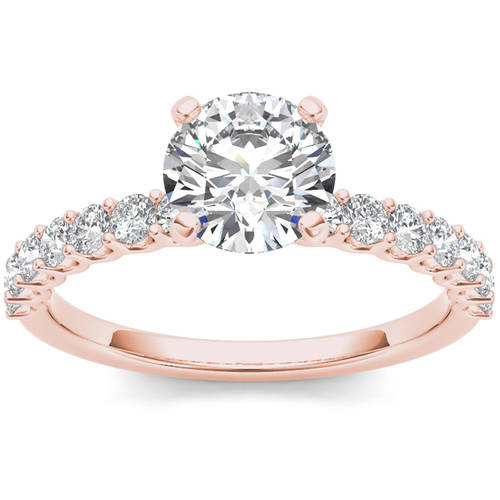 Imperial 1 Carat T.W. Diamond Classic 14kt Rose Gold Engagement Ring by Imperial Jewels