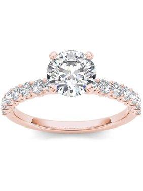 1 Carat T.W. Diamond Classic 14kt Rose Gold Engagement Ring