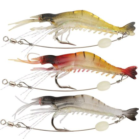 Soft Lures Shrimp Bait Set Kit Fishing Lures Baits Tackle Set For Freshwater Trout Bass Salmon-Include Vivid Spinner Baits,Topwater Frog Lures,Crankbaits Lures,Spoon Lures