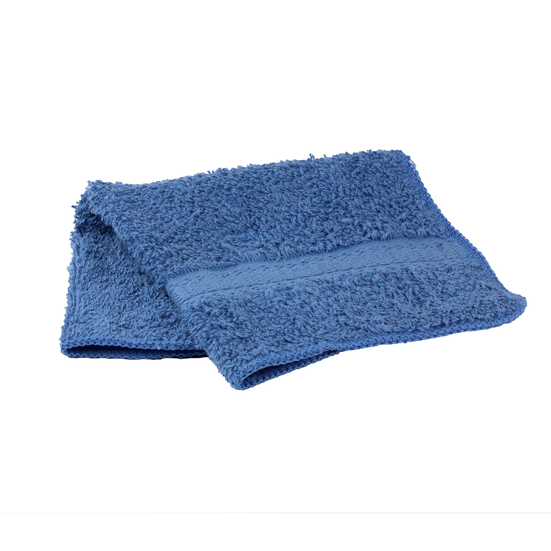 Mainstays Basic Bath Collection - Single Washcloth, Solid Blue