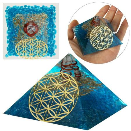 Mrosaa Orgone Pyramid – Crystal Pyramid for Emf Protection Energy Generator – Healing Crystal Orgonite Pyramids for Chakra Meditation – Meditation Healing Pyramid