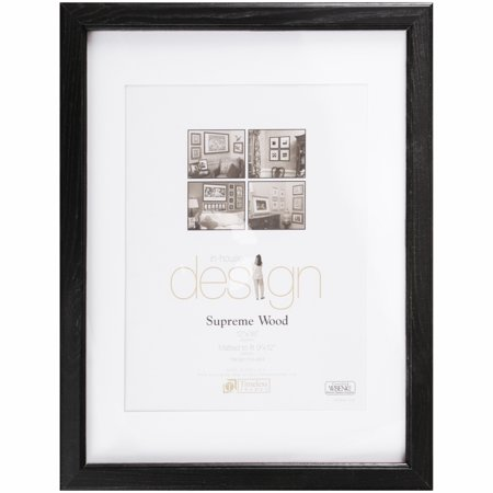 Timeless Frames In House Design Black 12 X 16 Supreme Wood Matted
