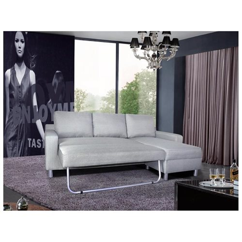 US Pride Furniture Kachy Fabric Convertible Sleeper Sectional Sofa Bed & Facing Right Chaise