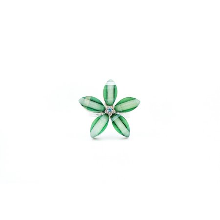 Hawaii Luau Party Dance Steel Adjustable Floral Plumeria Ring in AQUA - Ring Dance Themes