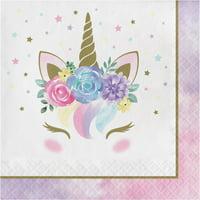 Creative Converting Unicorn Pastel Baby Shower Napkins, Pack Of 16