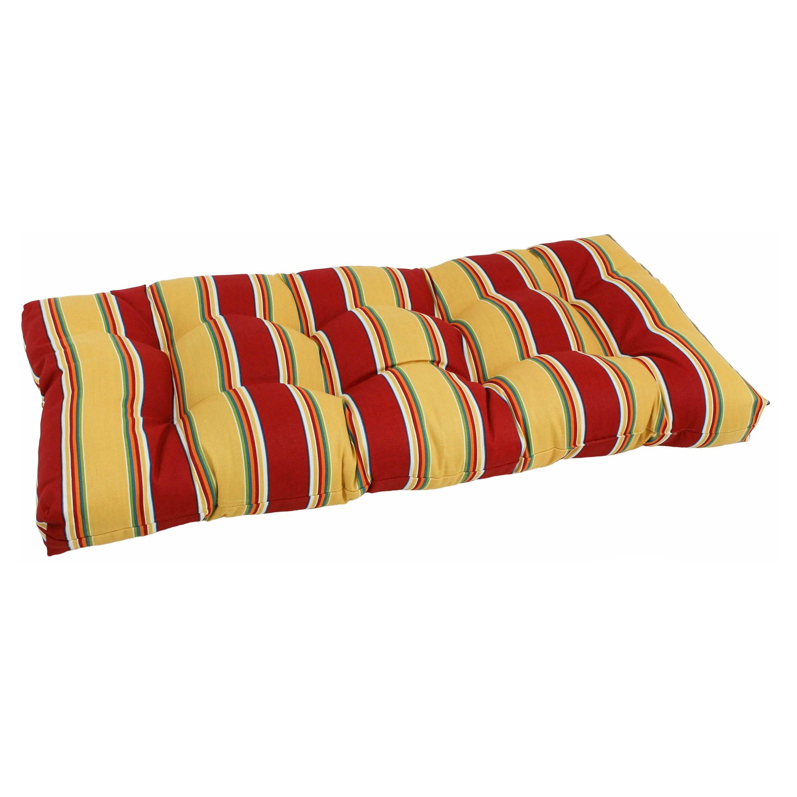 Blazing Needles Reo Stripe Outdoor All Weather Loveseat Cushion