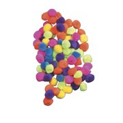 "Creativity Street Pom Pons, 1"", Hot Colors 50/Pkg."