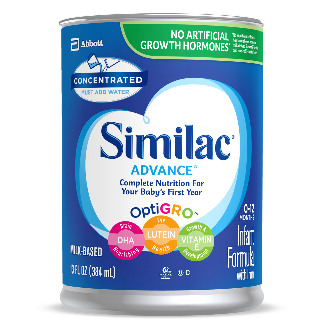 Similac Advance Concentrated Liquid (12 Cans) 13 fl oz Infant Formula with Iron,