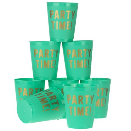Slant Collections   16 oz Party Time Frost Flex Cup - Oz In Cups