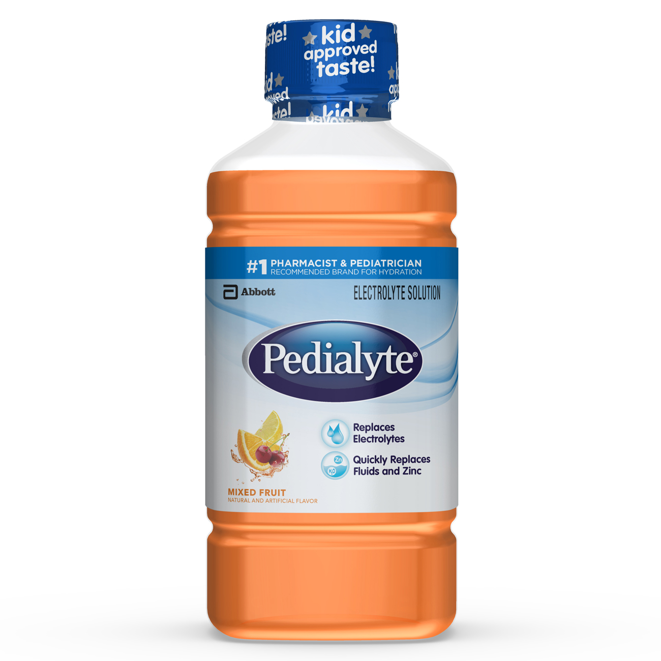 Pedialyte Oral Electrolyte Solution, Fruit, 1-Liter, 8 Count