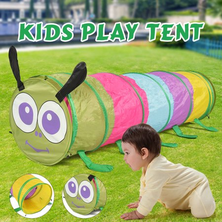 2019 Baby Kids Best Gift Colorful Play Sports & Outdoors Tents Caterpillar Animal Tunnel Crawling Indoor Outdoor Training Children Playing (Best Wall Tent 2019)