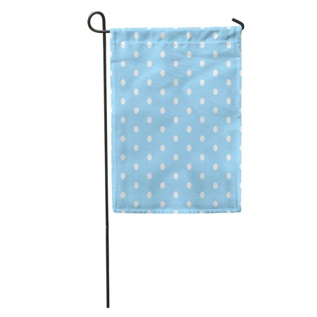 NUDECOR Blue Baby Polka Dot Pattern Polkadot White Abstract Babybackground Garden Flag Decorative Flag House Banner 12x18 inch - image 1 of 1