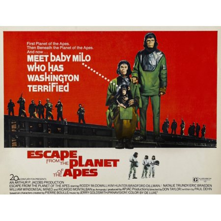 (Escape From The Planet Of The Apes L-R Kim Hunter Roddy Mcdowall 1971 Tm And Copyright 20Th Century Fox Film Corp All Rights ReservedCourtesy Everett Collection Movie Poster Masterprint)