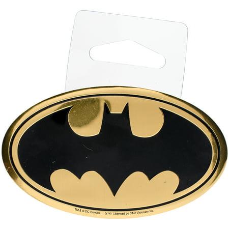DC Comics Licensed Heavy Duty Embossed Metal Sticker-Batman Logo 2