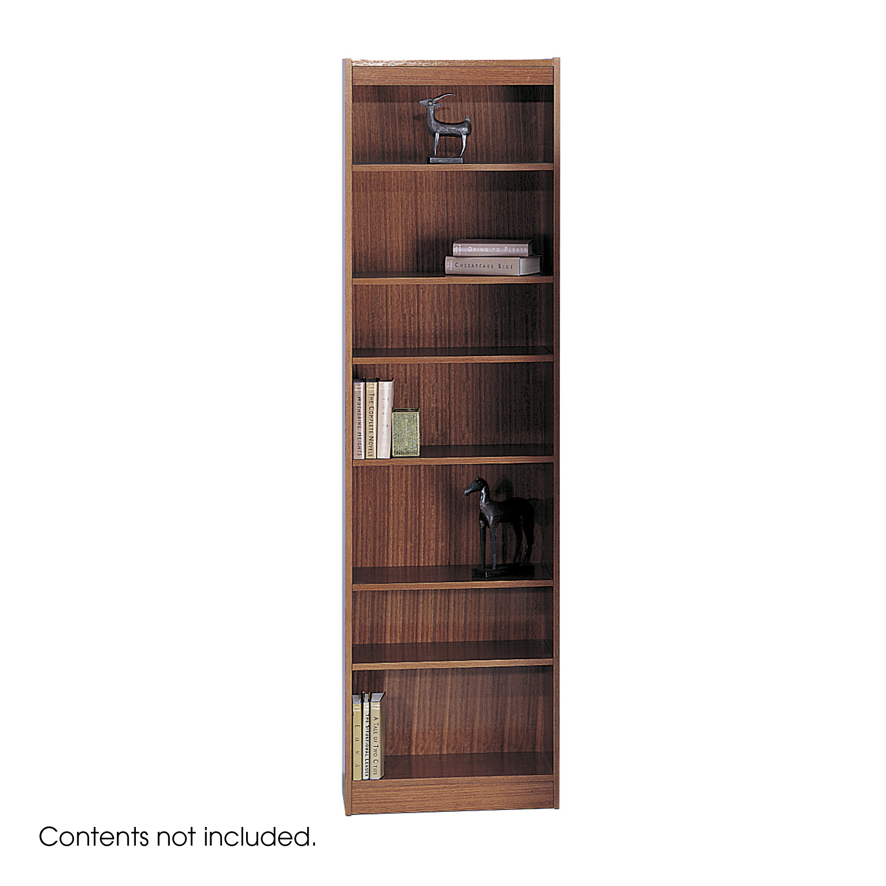 1515CYC Office School 24 W X 84 H Square Edge Veneer Baby Cherry Bookcase  With