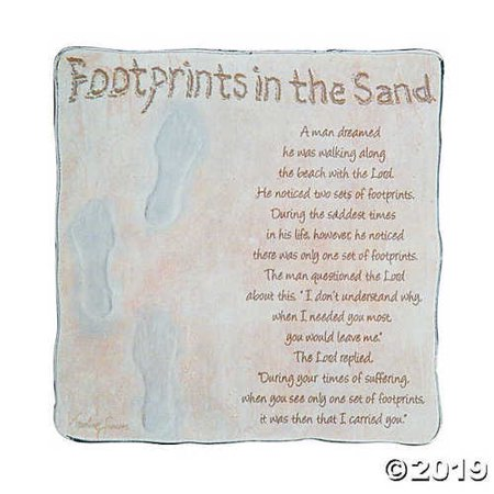 Footprints in the Sand Tabletop -