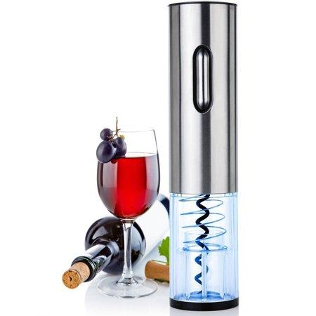 Rechargeable Electric Wine Bottle Opener, Automatic Corkscrew (Stainless - Rechargeable Automatic Wine Bottle Opener