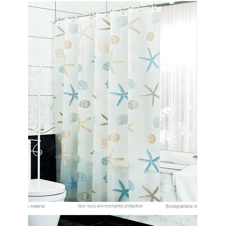 Topcobe Fabric Shower Curtain Liner For Bathroom PEVA Waterproof Curtains Liners With Antirust Copper
