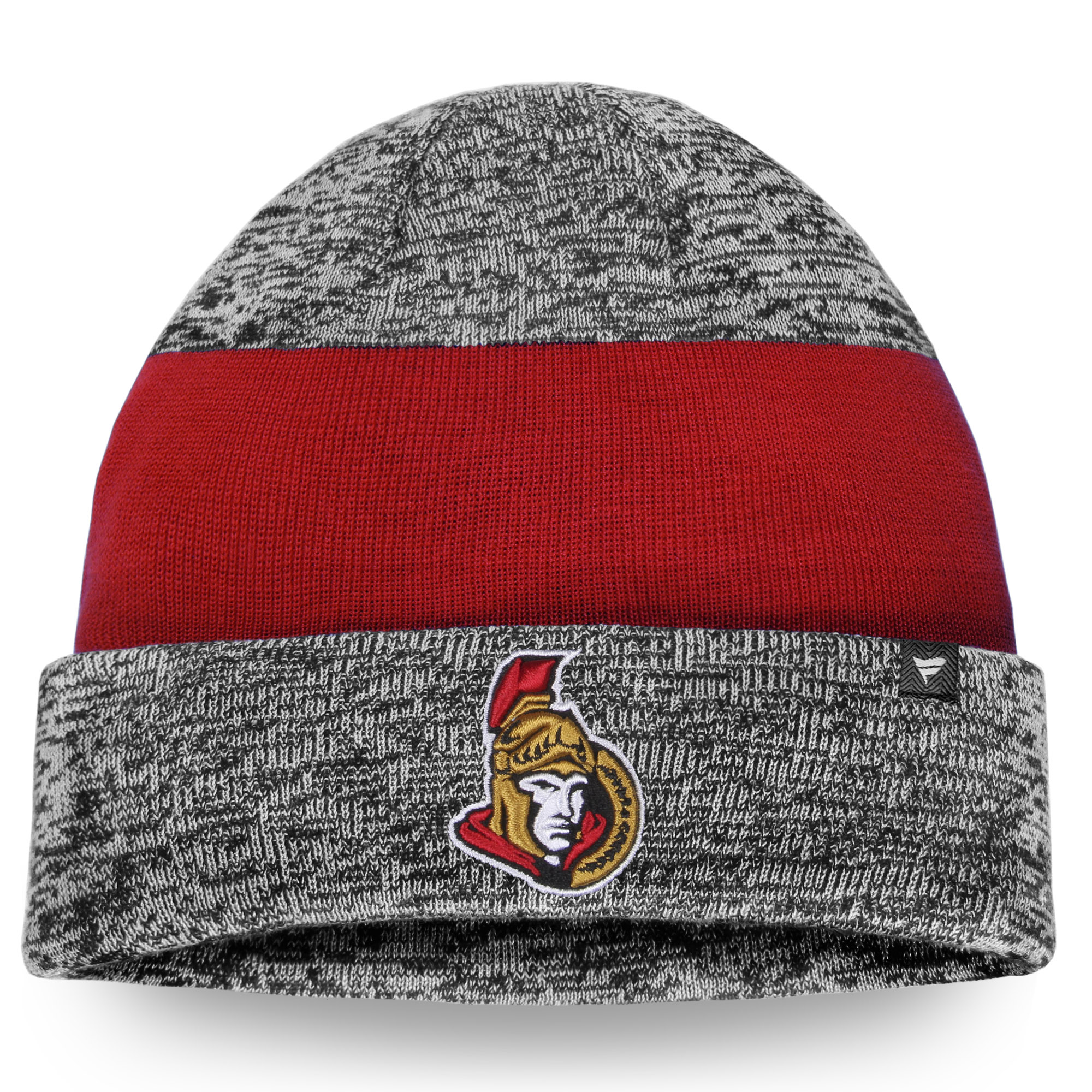 Ottawa Senators Static Cuffed Knit Hat - Gray/Red - OSFA
