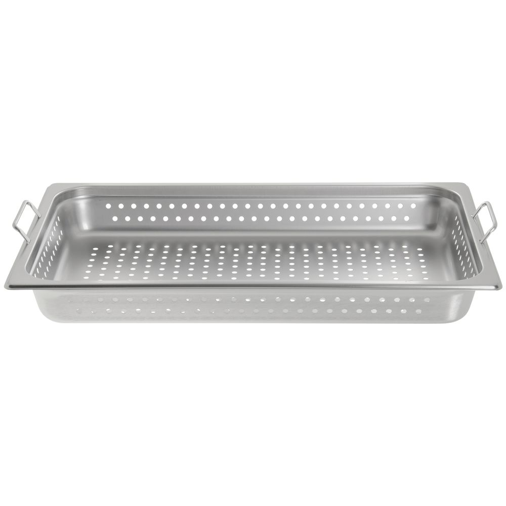 HUBERT Steam Table Pan Full Size 24 Gauge Stainless Steel Perforated 2 1//2 D
