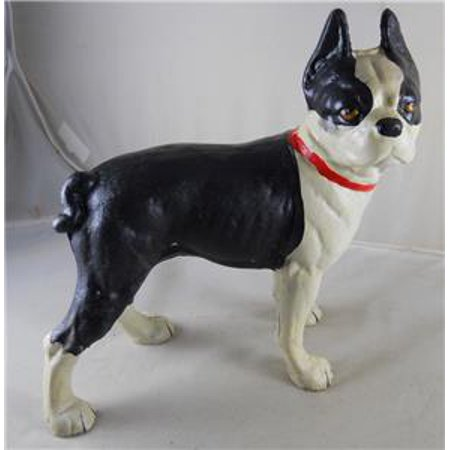 Cast Iron Standing Boston Terrier Dog Doorstop